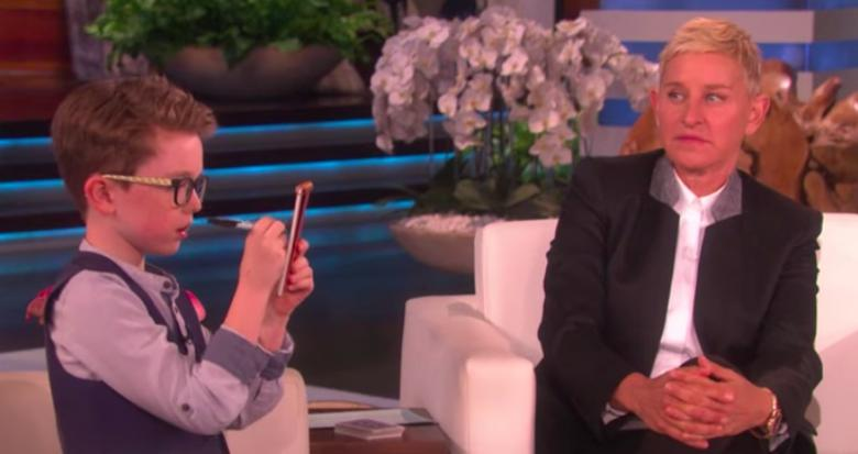 Nine-Year-Old Irish boy Blows Ellen's mind with barely believable tricks - video
