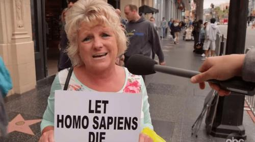 Jimmy Kimmel asks people about if they care about the extinction of 'homo sapiens' - video