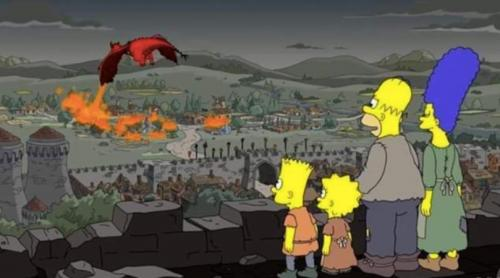They've done it again! 'The Simpsons' predicted the Battle of King's Landing in 'Game of Thrones' two years ago - video