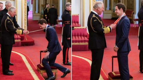 Andy Murray receives his knighthood at Buckingham Palace