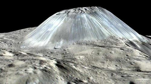 NASA says ice volcano on Ceres asteroid is 'like nothing humanity has ever seen' - video