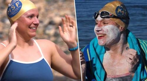Cancer survivor becomes first to swim English Channel four times non-stop