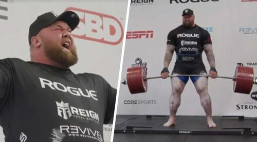 Hafthor Bjornsson, The Mountain from Game of Thrones, has broken the world deadlift record  - video